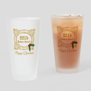 Baker Street Christmas Drinking Glass