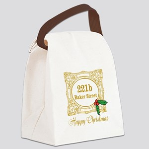 Baker Street Christmas Canvas Lunch Bag