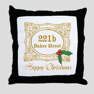 Baker Street Christmas Throw Pillow