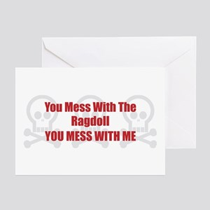 Mess With Ragdoll Greeting Cards (Pk of 10)