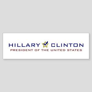 Hillary Clinton President USA V2 Sticker (Bumper)