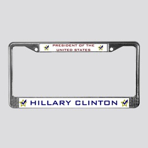 Hillary Clinton President USA License Plate Frame