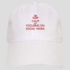 Keep Calm by focusing on Social Work Cap