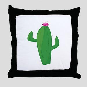 Flowering Cactus Throw Pillow