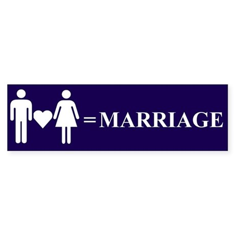 Love and Marriage Bumper Sticker