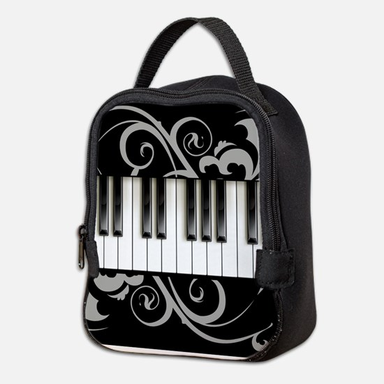 Piano Keyboard Neoprene Lunch Bag