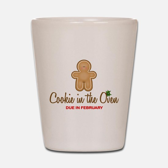 Cookie Due February Shot Glass