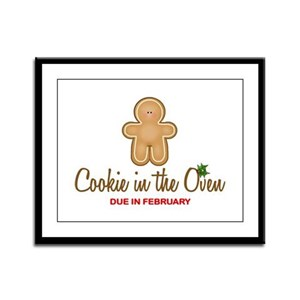 Cookie Due February Framed Panel Print