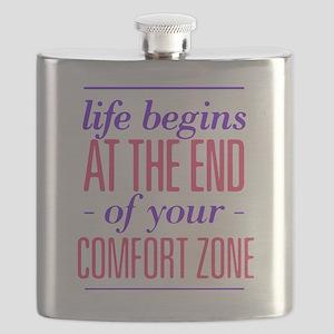 Life Begins - Pink/Purple Flask