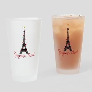 Paris Christmas Drinking Glass