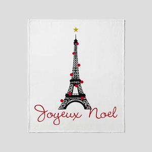 Paris Christmas Throw Blanket