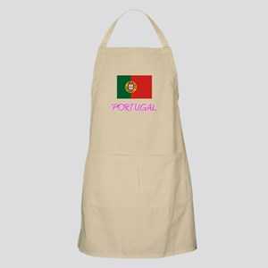 Portugal Flag Artistic Pink Design Light Apron