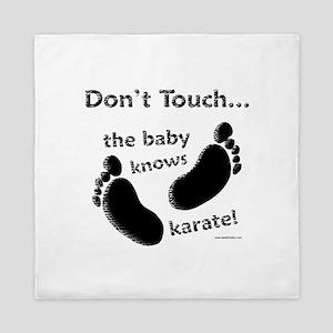 Karate Baby Black Queen Duvet