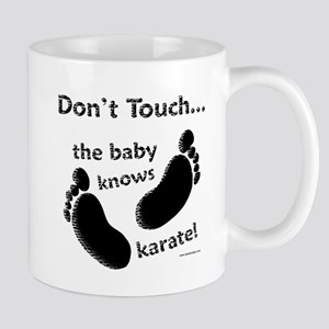 Karate Baby Black Mug