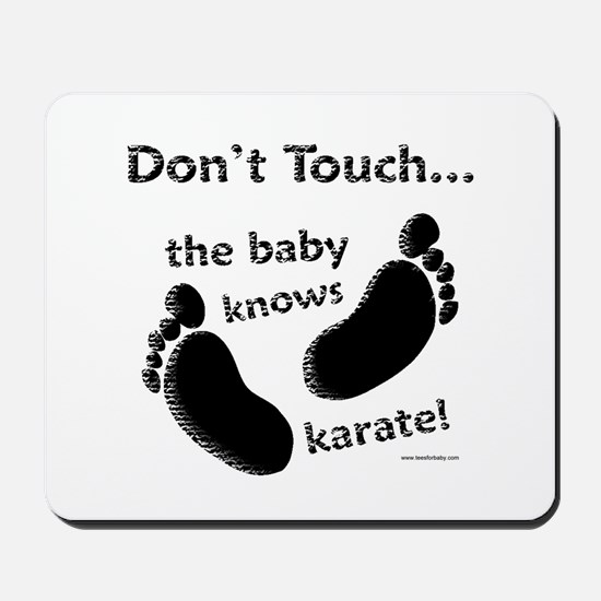 Karate Baby Black Mousepad