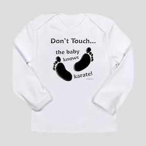 Karate Baby Black Long Sleeve Infant T-Shirt