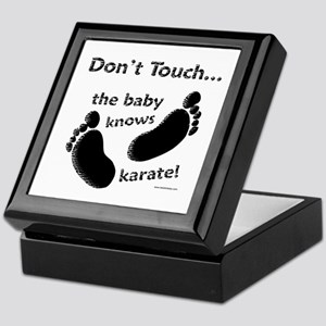 Karate Baby Black Keepsake Box