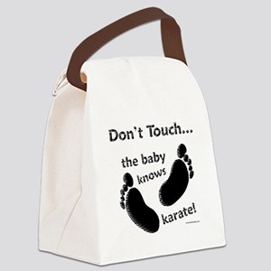 Karate Baby Black Canvas Lunch Bag