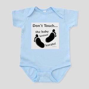 Karate Baby Black Infant Bodysuit