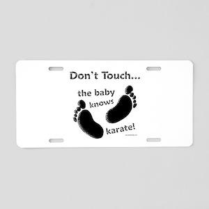 Karate Baby Black Aluminum License Plate