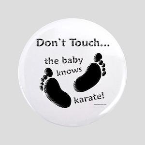 Karate Baby Black Button