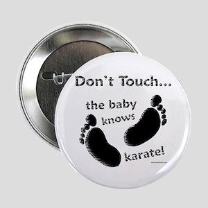 """Karate Baby Black 2.25"""" Button"""