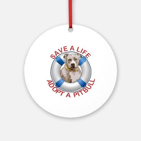 Life Preserver Fawn Pitbull Ornament (Round)