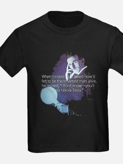 Tesla Einstein Quote T-Shirt