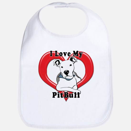 I love my Pitbull logo copy Bib
