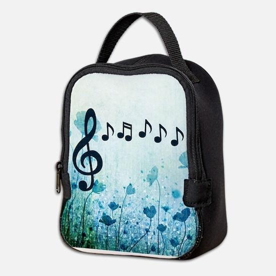 Musical Garden Neoprene Lunch Bag