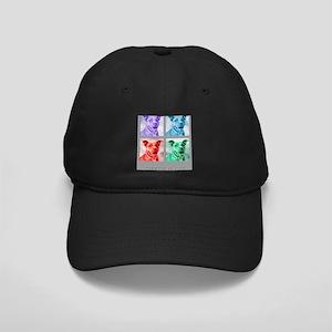 Homage to Warhol Pitbulls Black Cap