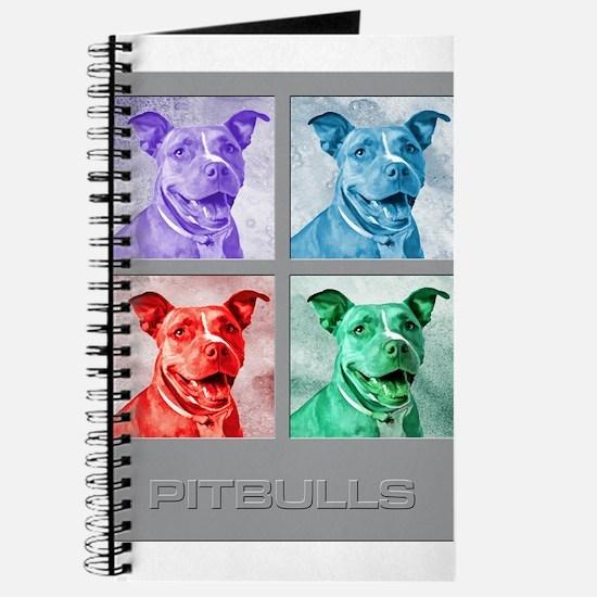 Homage to Warhol Pitbulls Journal