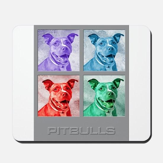 Homage to Warhol Pitbulls Mousepad