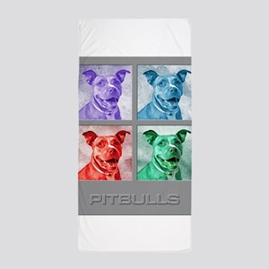 Homage to Warhol Pitbulls Beach Towel
