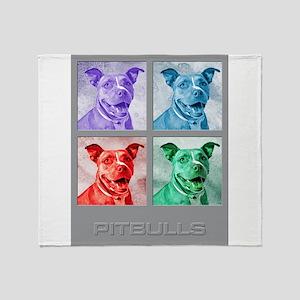 Homage to Warhol Pitbulls Throw Blanket