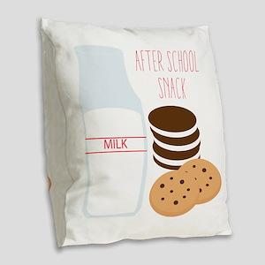 After School Snack Burlap Throw Pillow
