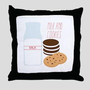 Milk and Cookies Throw Pillow