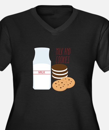 Milk and Cookies Plus Size T-Shirt