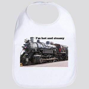 I'm hot and steamy: train engine, Arizona, USA Bib