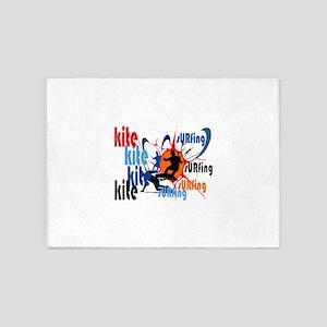 Kitesurfing 5'x7'Area Rug