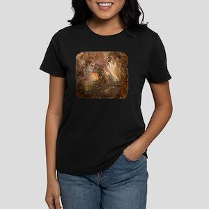 Mountain Lion Collage Women's Dark T-Shirt