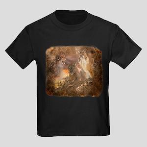 Mountain Lion Collage Kids Dark T-Shirt