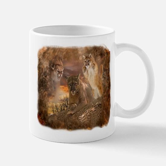 Mountain Lion Collage Mug Mugs
