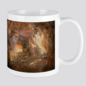 Mountain Lion Collage Mug