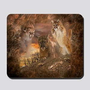 Mountain Lion Collage Mousepad