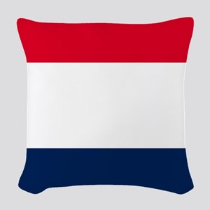 French Flag Woven Throw Pillow