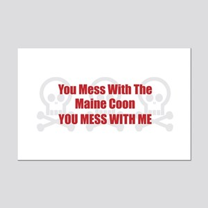 Mess With Maine Coon Mini Poster Print