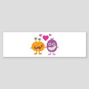 Alien Love Bumper Sticker