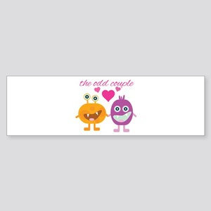 Odd Couple Bumper Sticker