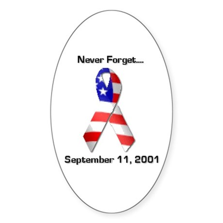 Never Forget Oval Sticker